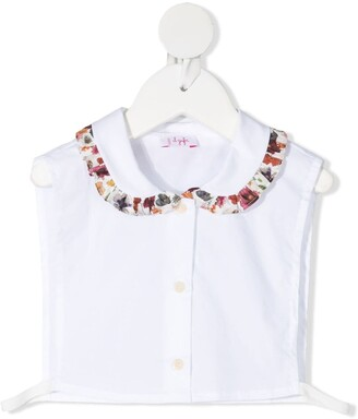 Il Gufo Contrast-Collar Sleeveless Blouse