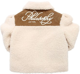 Philosophy di Lorenzo Serafini Logo Embroidered Faux Shearling Jacket