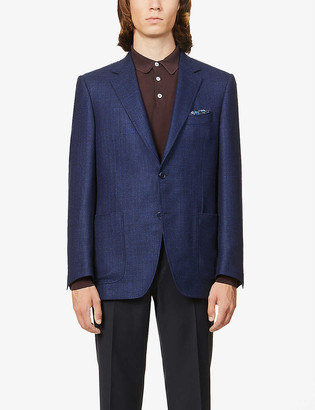 Canali Single-breasted notch-lapel wool blazer