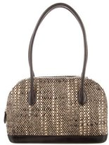 Walter Steiger Leather-Trimmed Bouclé Bag
