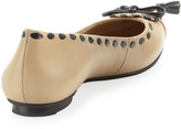 Jack Rogers Betty Pointed Toe Flat, Cream