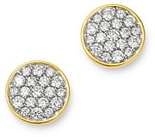Bloomingdale's Diamond Pave Disc Stud Earrings in 14K Gold - 100% Exclusive