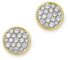 Bloomingdale's Diamond Pave Disc Stud Earrings in 14k Gold - 100% Exclusive