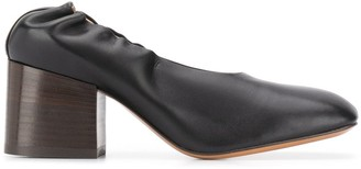 Marni Block Heel Leather Pumps