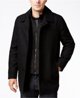 Nautica Wool-Blend Layered Car Coat