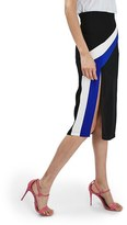 Topshop Women's Colorblock Stripe Split Midi Skirt