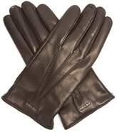 Prada Topstitched leather gloves