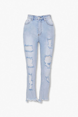 Forever 21 Distressed Flare Jeans