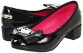 Juicy Couture Miriam Kid (Toddler/Youth) (Black Patent) - Footwear