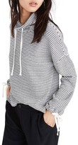 Madewell Women's Stripe Funnel Neck Tie Sleeve Sweatshirt