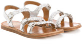 Pom D'Api braided sandals - kids - Leather/rubber - 30