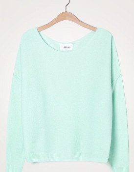 American Vintage Damsville Soft Loose Sweater - XS/S | baby blue - Baby blue