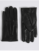 M&S Collection Touchscreen Leather Gloves with ThinsulateTM