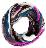 Pologeorgis Multicolor Fur Infinity Scarf w/ Tags