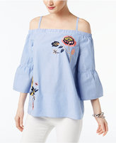 INC International Concepts Cotton Cold-Shoulder Top, Created for Macy's