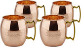 Old Dutch 16 Oz Solid Copper Cheers! Moscow Mule Mugs Set of 4