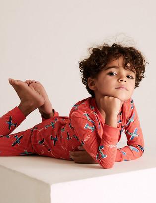 Marks and Spencer Cotton Rich Plane Pyjama Set (1-7 Yrs)