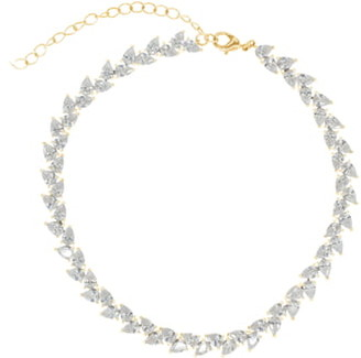 RAGEN Jewels Pear Cut Crystal Choker Necklace