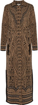 Temperley London Avarga metallic jacquard-knit coat
