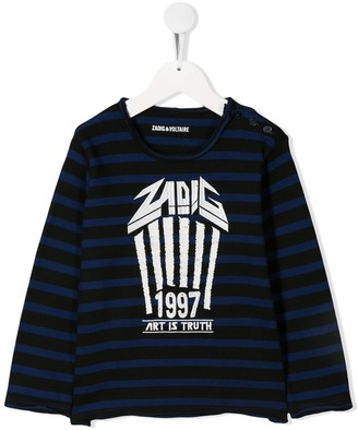 Zadig & Voltaire Kids relaxed-fit striped T-shirt