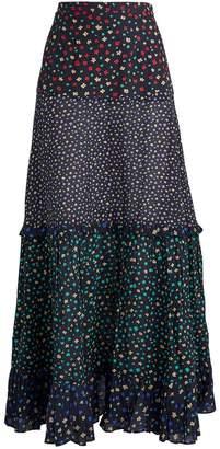 Rixo Dakota Floral Midi Skirt