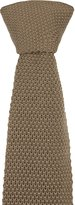 Notch Men's Knitted Slim Necktie - ARNAUD - Dark wool knit