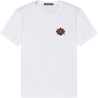 Dolce & Gabbana Logo Tee in White   FWRD