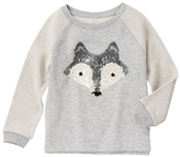 Gymboree Cozy Heather Sequin Fox Sweater - Girls