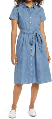 1901 Chambray Tie Waist Shirtdress