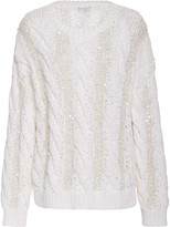 Brunello Cucinelli Oversized Cable-Knit Sweater