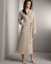 Neiman Marcus Cashmere Jersey Robe, Oatmeal