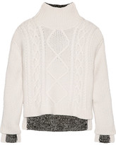 Rag & Bone Ida Wool And Ribbed-knit Sweater - Off-white