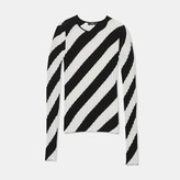Theory Ribbed Stripe Intarsia Sweater