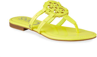 Sam Edelman Clara Neon Medallion Thong Flat Sandals