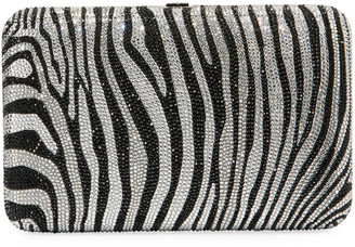 Judith Leiber Seamless Zebra Crystal Clutch Bag