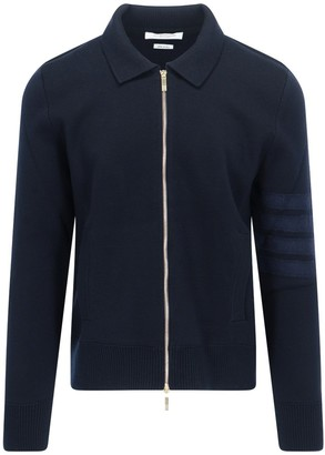Thom Browne 4-Bar Zipped Cardigan