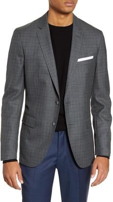 BOSS Trim Fit Check Wool Sport Coat