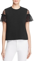 McQ Lace Shoulder Top