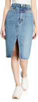 Rag & Bone Super High-Rise Denim Pencil Skirt