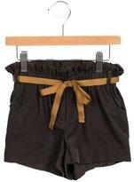 Bonpoint Girls' Belted Corduroy Shorts