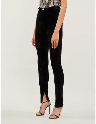 ATTICO Leopard-print velvet leggings