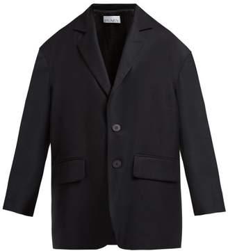Raey Soft Tailored Single Breasted Wool Twill Blazer - Womens - Black