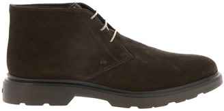 Hogan Route 393 Ankle Boot (h304 + Memory Sole In Suede