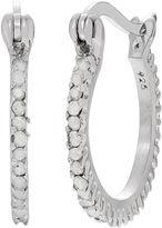 FINE JEWELRY 3/8 CT. T.W. White Diamond Sterling Silver Hoop Earrings