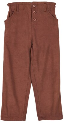 Caramel Cotton Paperbag Trousers (8-12 Years)