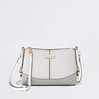 River Island Grey buckle side cross body bag