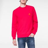 Paul Smith Men's Fuchsia Flocked PS Logo Sweatshirt