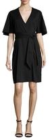 Ava & Aiden Cotton Wrap Midi Dress