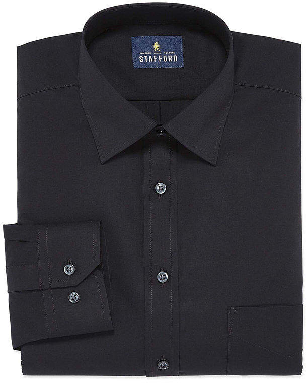 bd4ad1d84fb5e STAFFORD Stafford Men's Fitted Easy-Care Stretch Dress Shirt