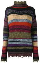 Etro striped turtleneck jumper - women - Acrylic/Nylon/Mohair/Alpaca - 40